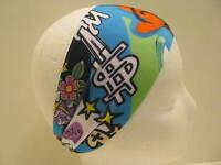 Lycra Spandex Headband-bolder Wider Stretch Hair Bands-yoga-running-graffiti