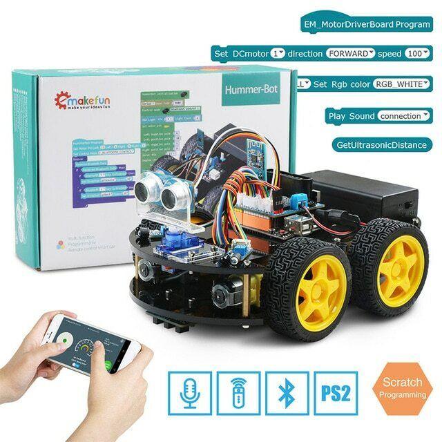 Emakefun For Arduino Robot 4WD Cars APP RC Remote Control blueetooth Robotics Lea