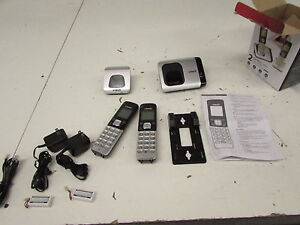 VTech CS6719-2 DECT 6.0 Phone with Caller ID Call Waiting, Silver Black