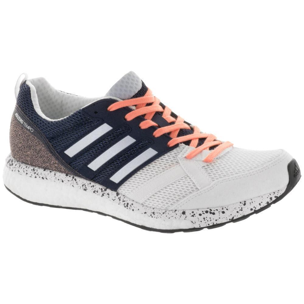 Adidas Running Adizero Tempo 9 White/Aero Blue Navy Womens Running Adidas Size 7.5 - CP9499 4a2ab3