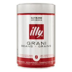 Illy Espresso Caffé in Grani Coffee Beans Tin Italy 250G 721864878405