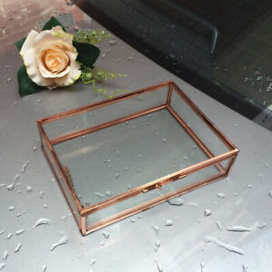 Mini Rechteckig Schmuckschatulle Terrarium Sukkulenten Pflanzer Kupfer