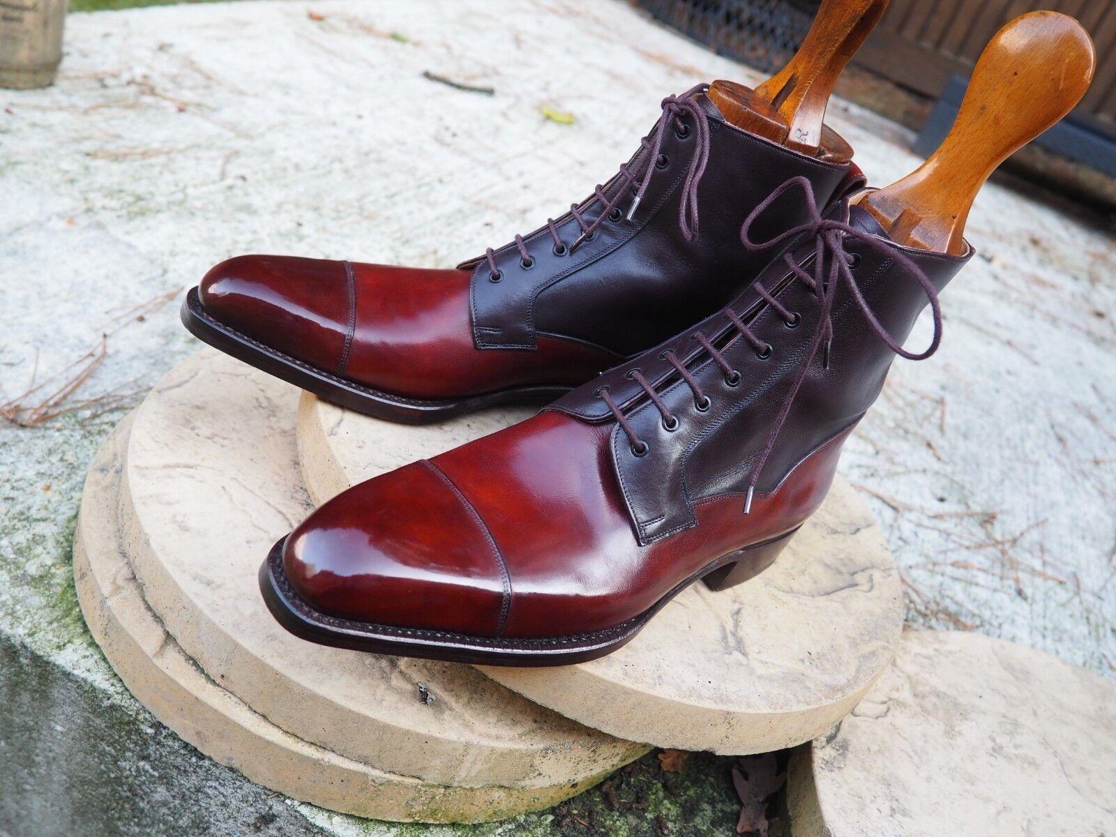 Vass Derby Boots Boots Derby - Gold Mus & Oxblood - US 11 D - K last. 82ef03