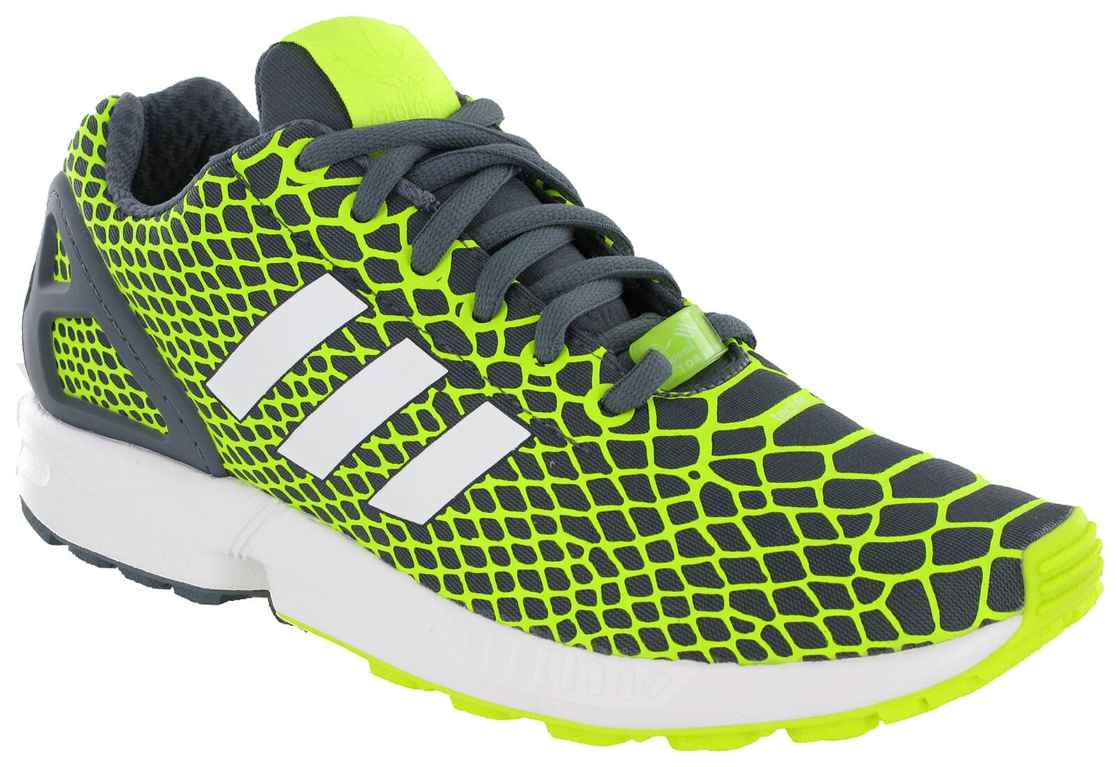 Adidas ZX Sports Flux Techfit Trainers Running Sports ZX Mesh Grey Mens Heel Cage B34934 721e63