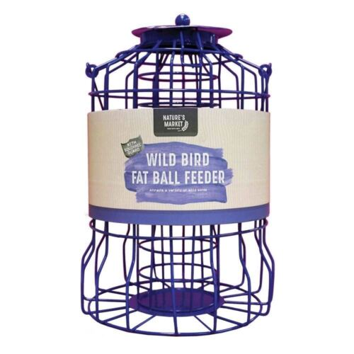 Kingfisher Oiseau Sauvage du Suif Fat Ball Feeder écureuil résistant Métal Cage Nouveau