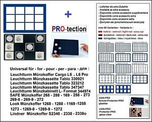 Look-12332-12-67-Plateau-pour-Monnaies-Bleu-12-Carres-Cases-67-mm