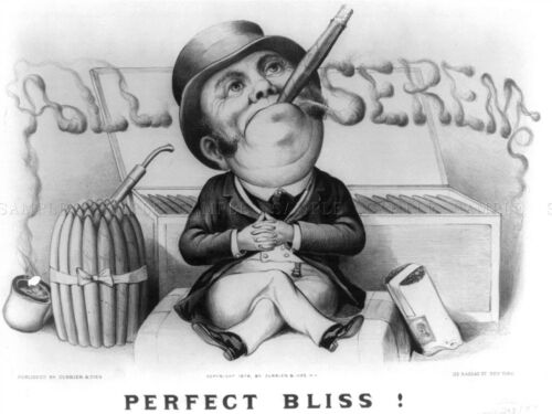 ADVERT BLACK WHITE CIGAR TOP HAT PERFECT BLISS ALL SEREM ART POSTER PRINT LV023