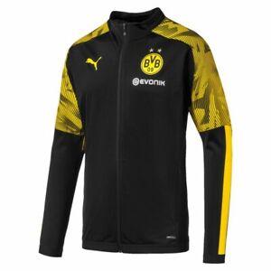 Puma-Fussball-BVB-Borussia-Dortmund-Herren-Poly-Jacke-2019-2020-schwarz-gelb