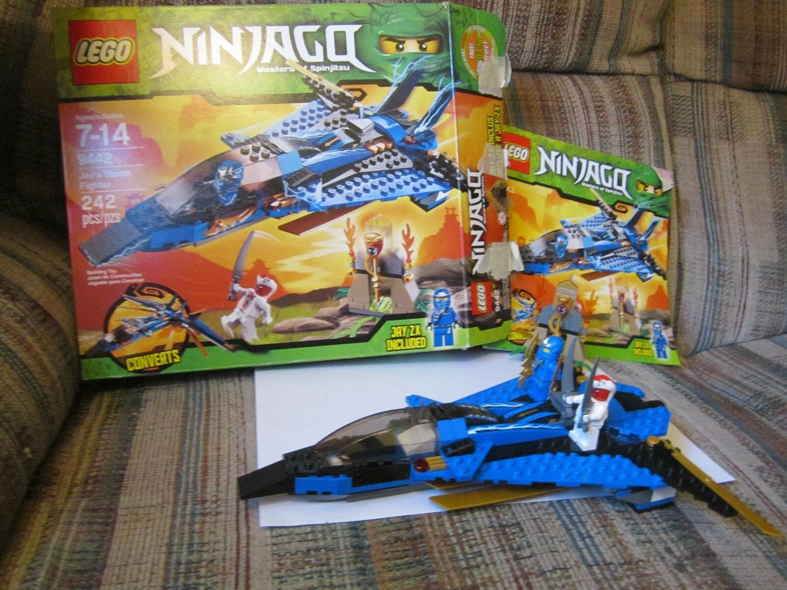 Lego 9442 Ninjago Jay's Storm Fighter with Box Minifigures