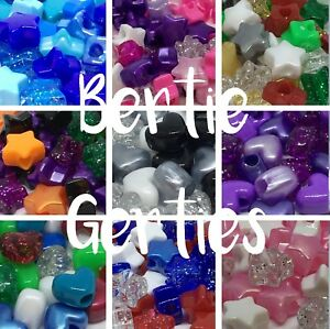 10-50-or-250-Star-or-heart-Pony-Beads-Various-Colour-Mixes