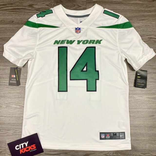 Mens Nike Sam DARNOLD NY Jets Vapor Limited White Jersey Sz M 913562 101