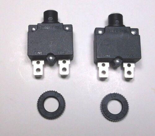 Lot of 2 Carling Brand Push to Reset Panel Mount 20 amp Circuit Breakers