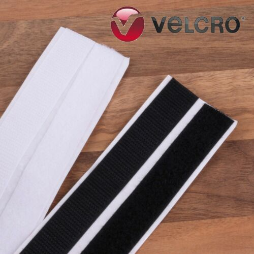 Genuine VELCRO® Brand ADHESIVE HOOK /& LOOP TAPE Fastener CHOOSE Length /& Colour