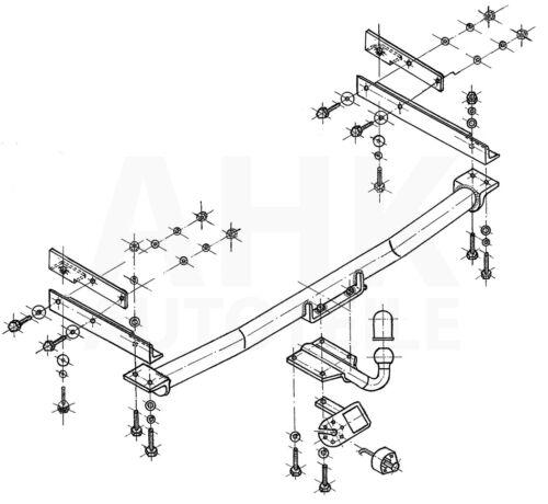 Für Mercedes-Benz W202 Limo C-Klasse 93-00 Anhängerkupplung starr+ES 13p uni