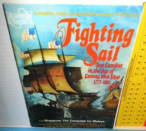Strategy-amp-Tactics-Mag-w-Game-85-Fighting-Sail-Sea-Combat-1775-1815-op-1981