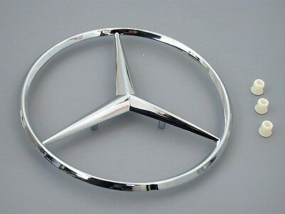 Mercedes w124 w201 GENUINE Trunk Star  KIT + Grommets rear decklid logo insignia