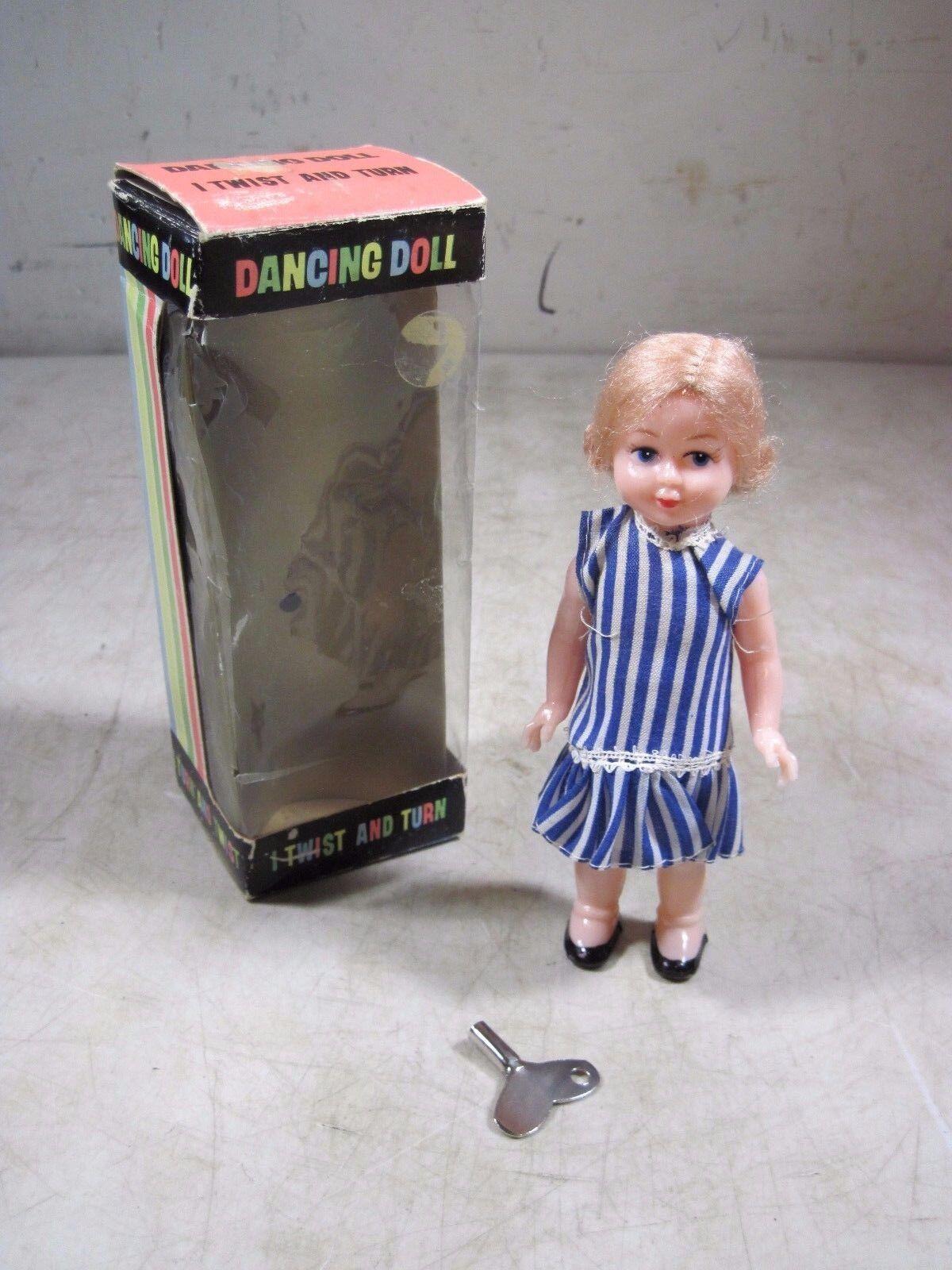 Muñeca Vintage 1967 oportuna Juguetes bailando Wind Up Juguete Hong Kong Nueva York Brooklyn con caja