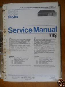 Vornehm Service Manual Philips Vr 63sb7 Video Recorder,original Tv, Video & Audio