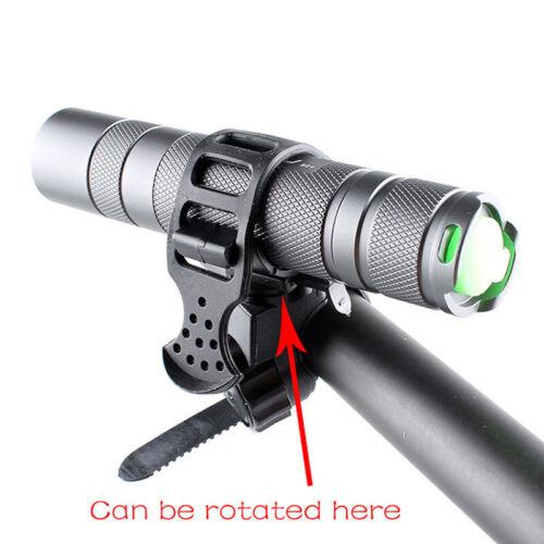 Rotation Torch Clip Mount Bike Bicycle Headlight Bracket Flashlight Holder Stand