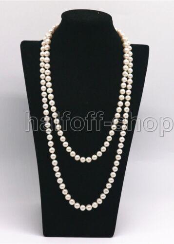 """Véritable 7-8 mm blanc naturel d/'eau douce collier de perles 32/"""" Long"""