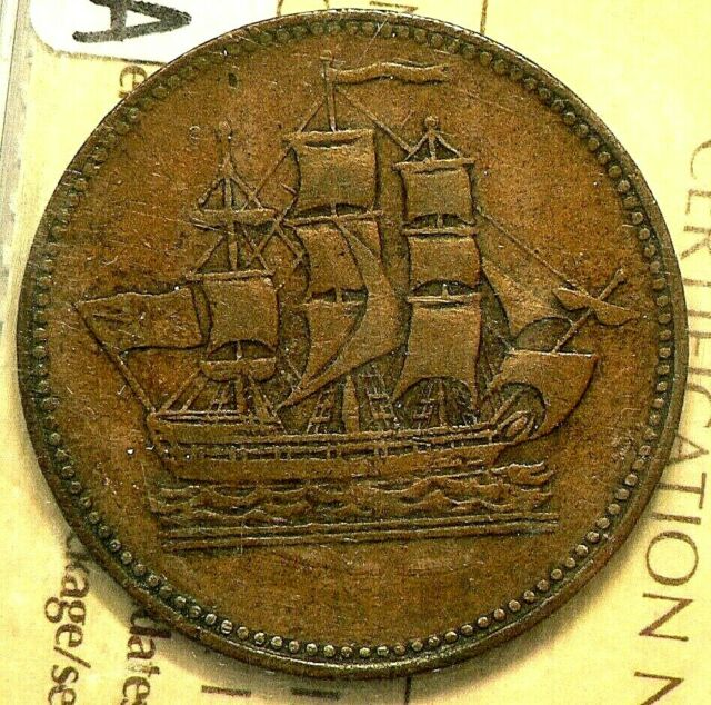 PEI Ships & Colonies Token ICCS VF30  PE 10-10A #9153