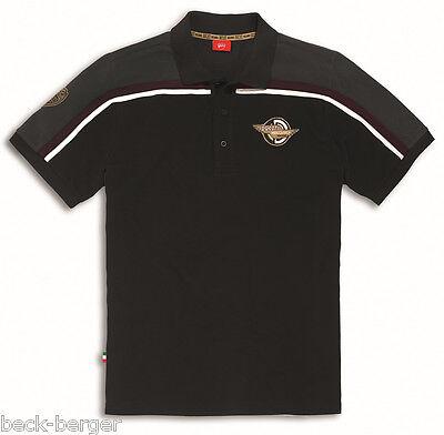 DUCATI MECCANICA short sleeve Polo T-Shirt Retro black grey new 2016