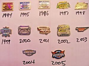 Vintage-Pin-Collection-Brickyard-400-Indy-Motor-Speedway-Inaugural-1994-2005