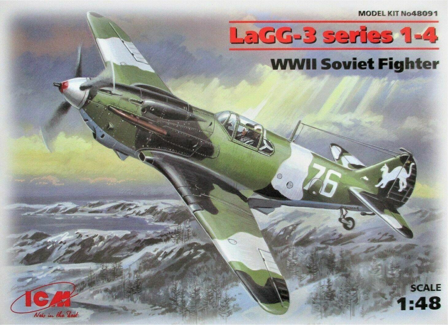 ICM 1//48 Maßstab Modell Set LaGG-3 Serie 1-4 WWII Sowjet Kampfflieger ICM48091