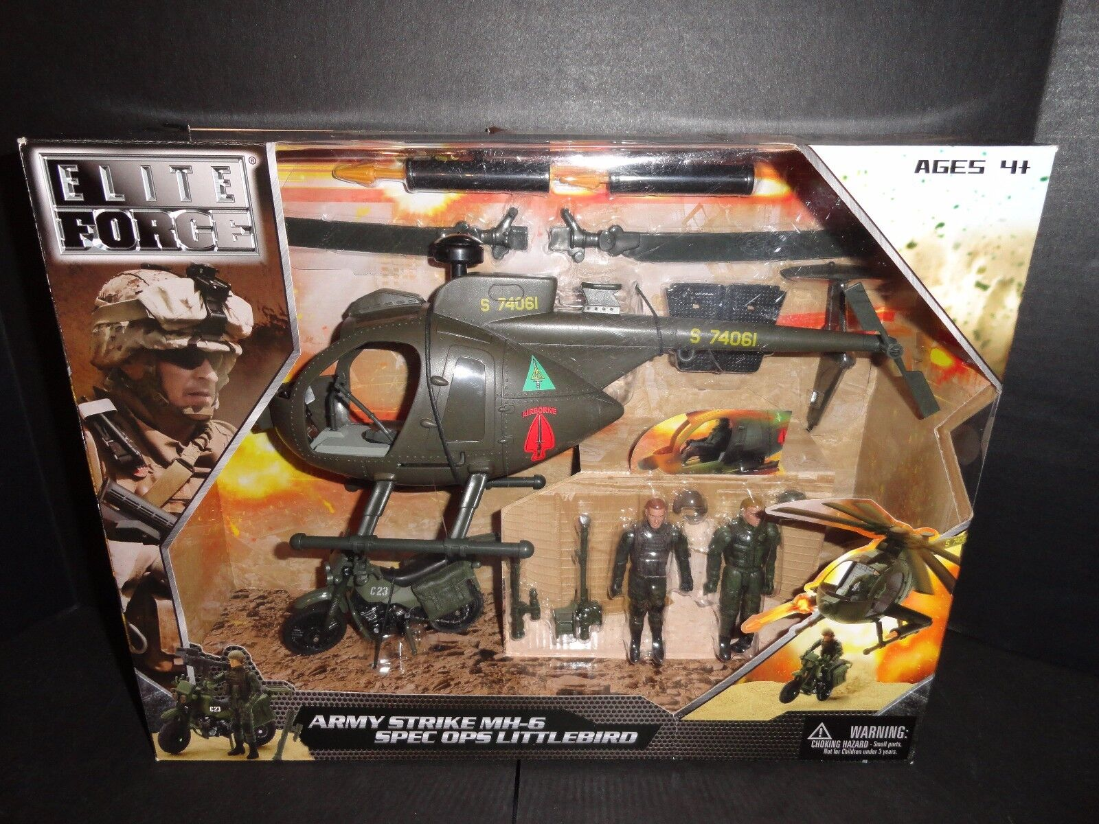 ELITE FORCE ARMY STRIKE MH-6 SPEC OPS LITTLEBIRD   NEW