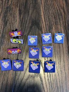 Lot-of-12-Figment-Disney-Trading-Pins-Figment-Themed-Hidden-Mickey