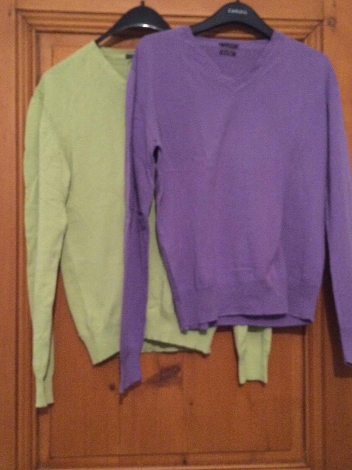 Lot de 2 - pulls homme - vert   violet- DEVRED - 2 T. M 9bc8e9 ... bcd7bec44667