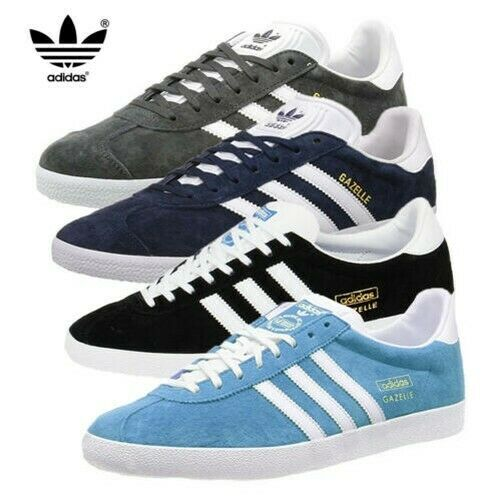 Adidas Originals Mens Gazelle Trainers Leather Suede Classic Stripe Lace Up Shoe