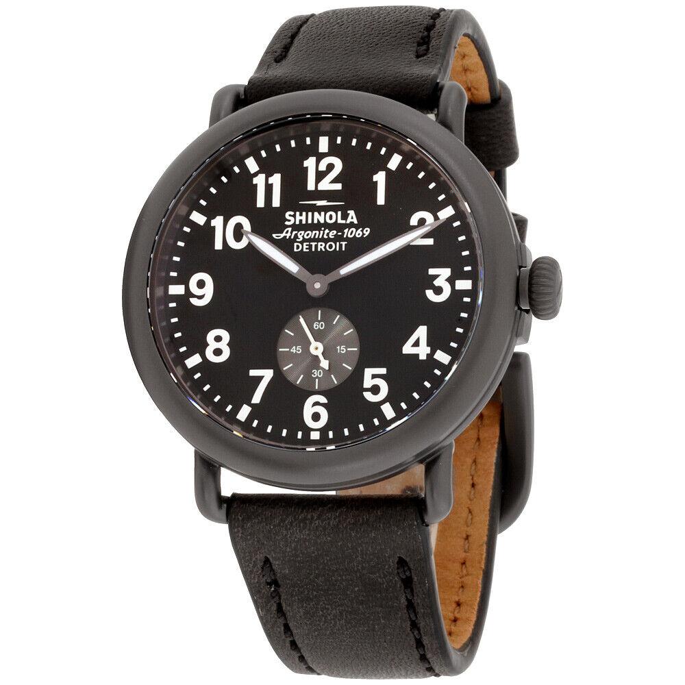 Shinola The Runwell Quartz Movement Black Dial Men's Watch S0120077935   Ebay