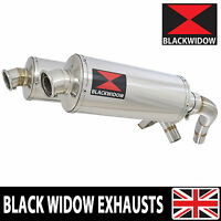 ST1100 ST 1100 Pan European Exhaust Stainless Silencers Mufflers Oval 300SSx2