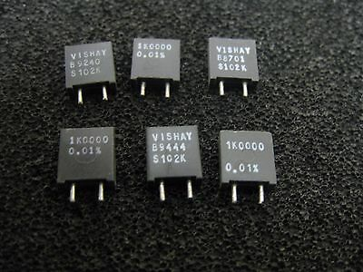 1x 1K0000 Vishay S102K Series Metal Foil Resistors 0.01% 1KΩ