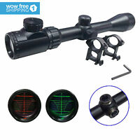 Optics Red & Green Mil-Dot Illuminated Hunting Air Sniper Rifle Scope 3-9X40 E
