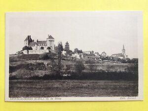 cpa-EPINAC-Saone-et-Loire-Vu-de-DINAY-Chateau-Eglise