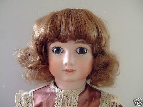 Perücke T2 (20.5cm) für Puppe - 100% Haare Natürlich - Human Hair Puppe Perücken