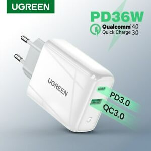 Ugreen 36W USB PD Type C QC Charger Quick Charge 3.0 4.0 Wall Adapter for Huawei