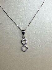 collier oro bianco 18 kt con ciondolo punto luce Infinito Diamanti SAN VALENTINO