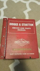 Vintage Briggs & Stratton Service and Parts Manual - 4 Cycle - 1970's-1980's