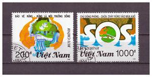Vietnam-Schutz-des-Waldes-MiNr-2273-2274-1990-used