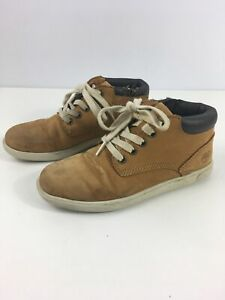 BOYS-CHILDS-TIMBERLAND-TAN-BROWN-LEATHER-LACE-UP-ANKLE-BOOTS-SHOES-UK-1-5-EU-34