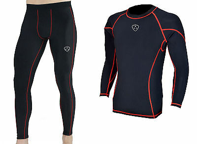 Men's Compression Armour Base layer Top running under arm Skin Fit