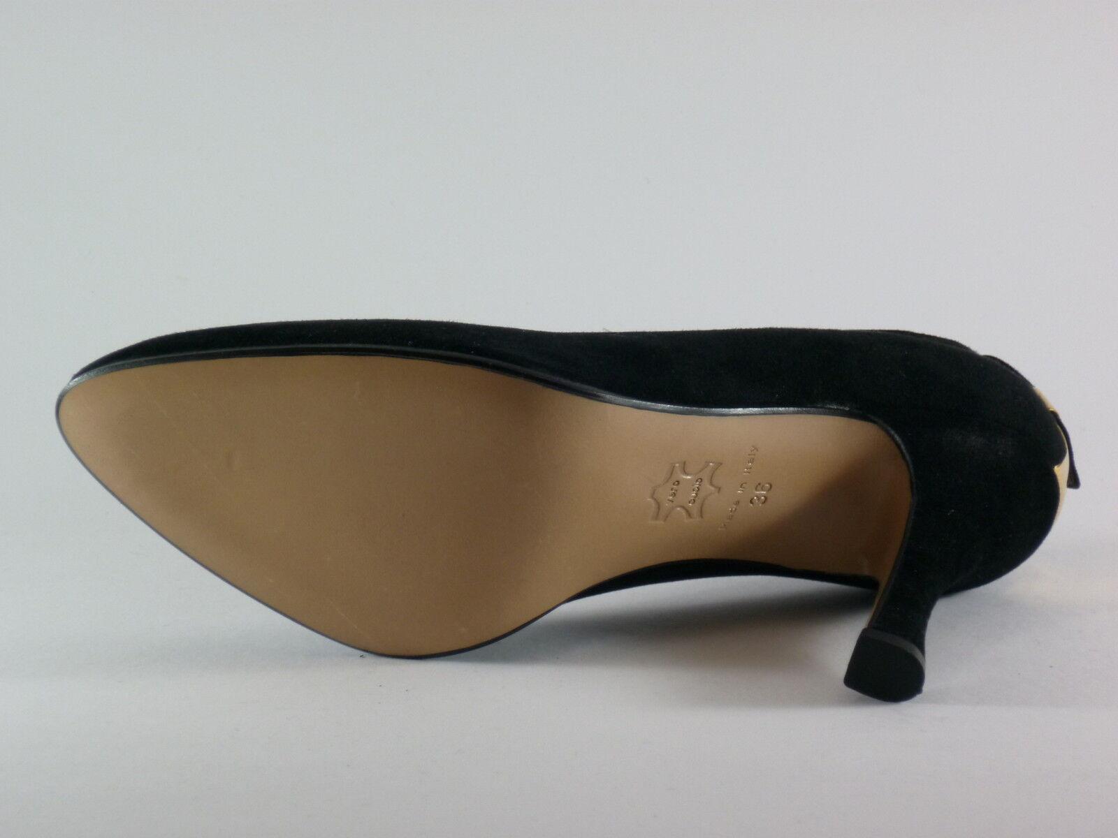 CUSANO Damen Schuhe 36 Pumps 40 Velour Schwarz Pumps 36 NEU 1725f6