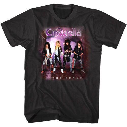 Cinderella Night Songs Album Cover Art Men/'s T Shirt 80/'s Glam Rock Band Merch