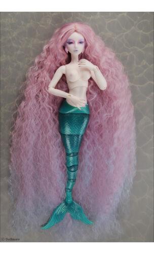 1//4 BJD MSD Wig 18-20 cm 7-8 inch  Stardust Mermaid Wig Pink DM