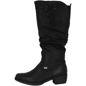 Details about Rieker Eagle Lacepu Stiefel Antistress Damen Schuhe Winterstiefel black 93161 00