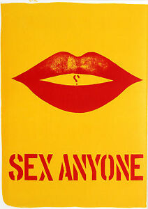 Robert-Indiana-034-Sex-Anyone-034-1960s-Pop-Art-Print-mint-cond-musuemly-matted-and-fr