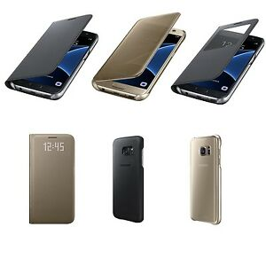 Original-Samsung-LED-Clear-S-View-Flip-Wallet-Cover-fuer-Galaxy-S7-EF-WG930